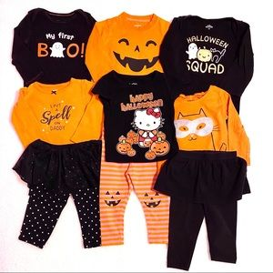 Halloween outfits girl's 18 month lot shirts/pants